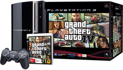 Blu-ray speler PlayStation 3 + GTA IV - Bundel