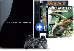 Blu-ray speler PlayStation 3 + Ratchet & Clank + Uncharted - Bundel